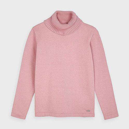 Mayoral Girls Basic Knitted Turtleneck in Blush