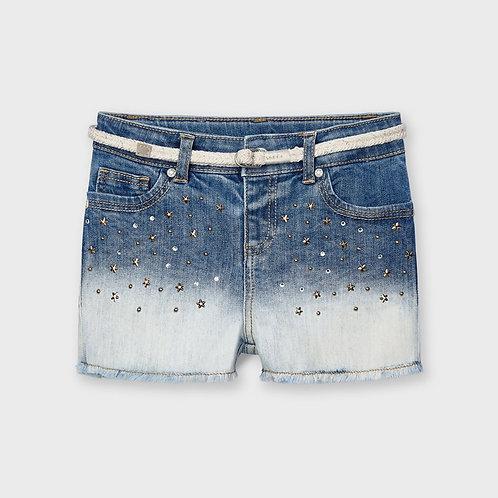 Mayoral Appliqué denim shorts for girl