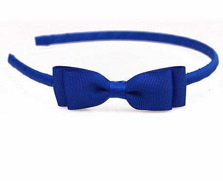 Cute Grosgrain Ribbon Bow Hairbands Solid Bowknot-Royal