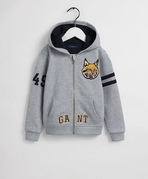 GANT Boys Tropical Cat Patch Full-Zip Hoodie
