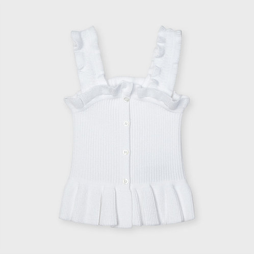 Mayoral rib knit top White