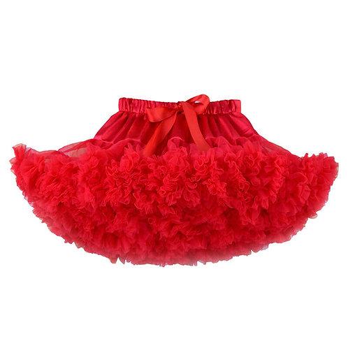 Hula Pettiskirt Tutu Skirt: Red