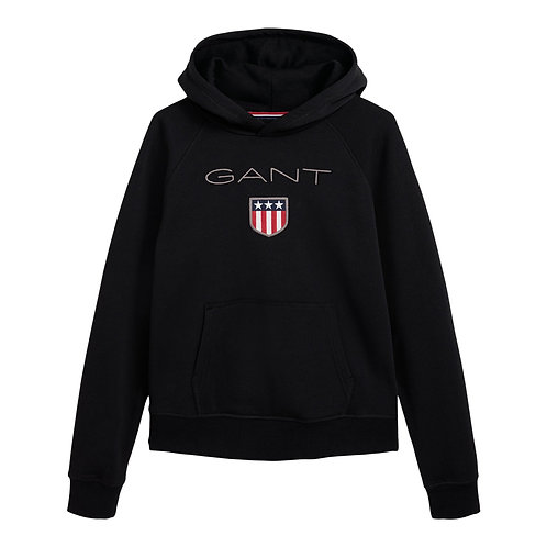 GANT Teen Boys GANT Shield Hoodie in Black
