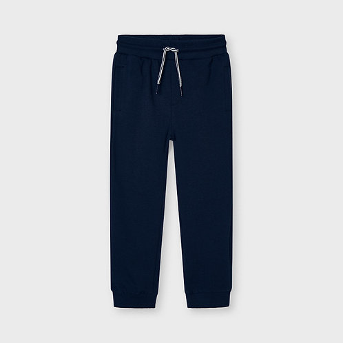 Mayoral Basic cuffed fleece trousers Navy