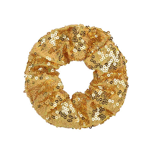 Gold Coloured Girls Sequin Scrunchie