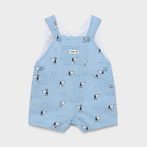 Mayoral Short dungarees for newborn boy