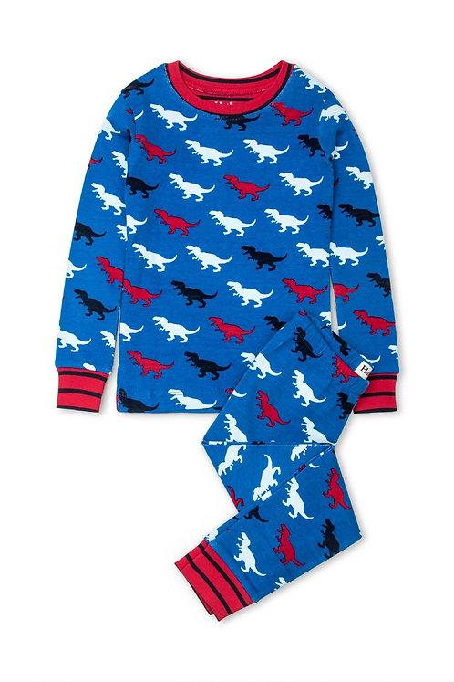 Hatley T-Rex Silhouettes Organic Cotton Pajama Set