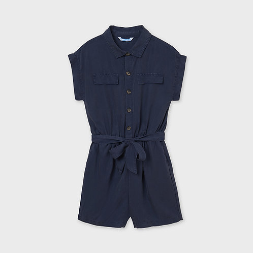 Mayoral romper with belt Dark