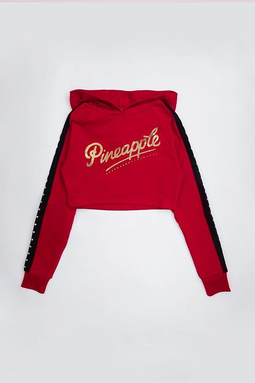 Pineapple Dancewear Stud Stripe Crop Hoodie