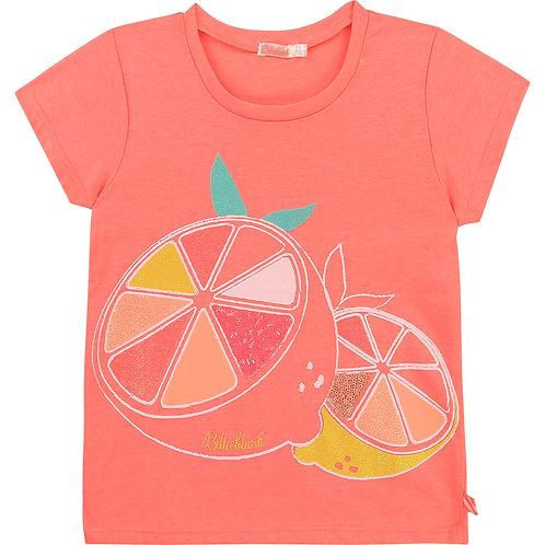 Billieblush Novelty  Cotton T-Shirt-Fuschia