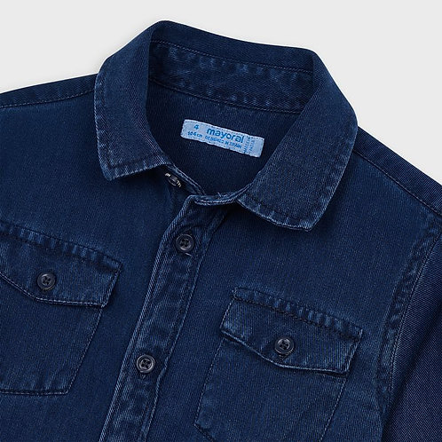 Mayoral Boys L/s twill shirt in Denim