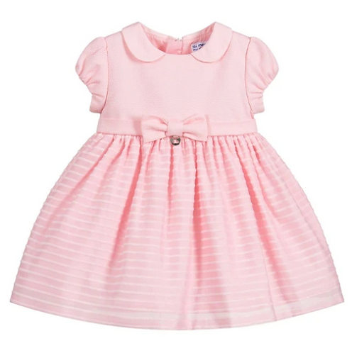 Mayoral Girls Mixed dress in Rose