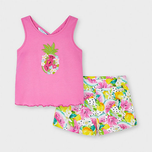 Mayoral embroidery short set Camellia