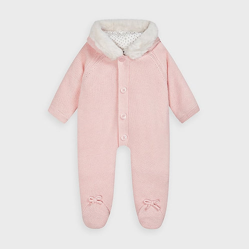 Mayoral Knit overall in Baby Rose