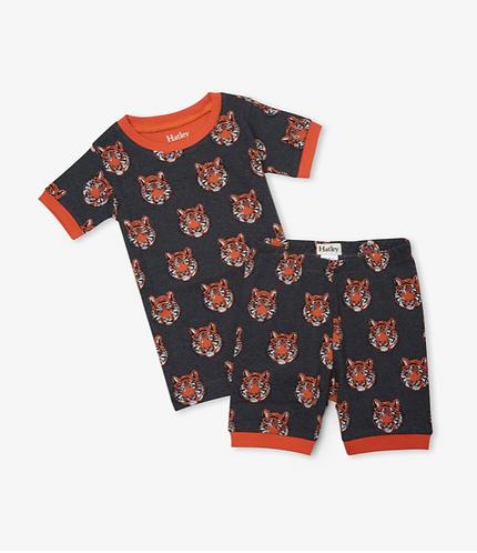 Hatley Fierce Tigers Organic Cotton Short Pyjama Set