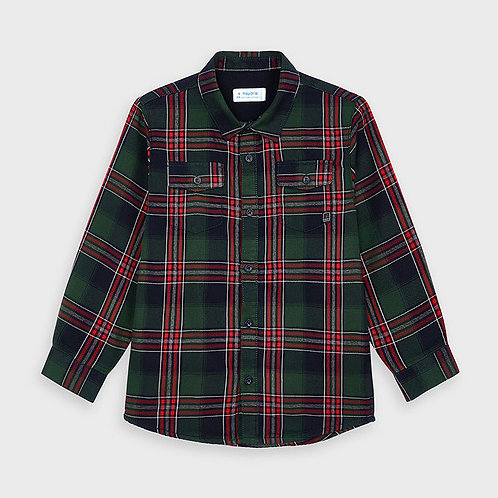 Mayoral Boys Plaid twill undershirt in SpanishFir