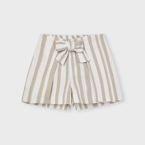 Mayoral ECOFRIENDS lurex striped shorts for girl