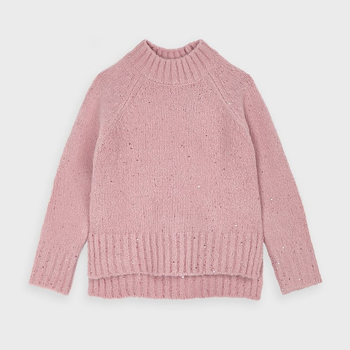 Mayoral Girls Sequins sweater in Blush