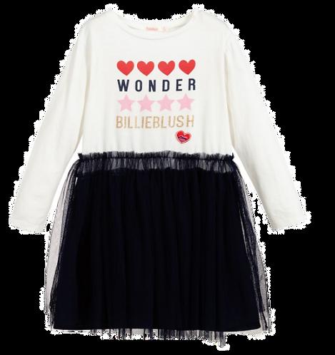 Billieblush Ivory & Navy Blue Tulle Dress