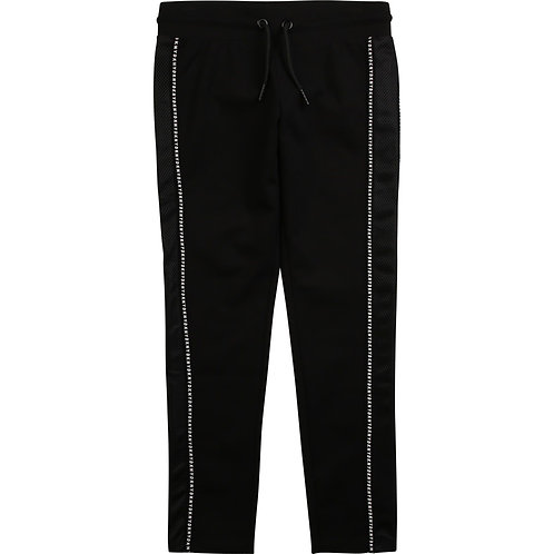 DKNY Dual Material Legging in Black & White