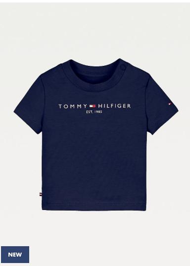 Tommy Hilfiger Baby Boys Essential T-shirt-Navy