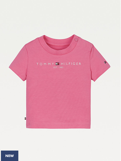Tommy Hilfiger Baby Girls Essential T-shirt-Pink