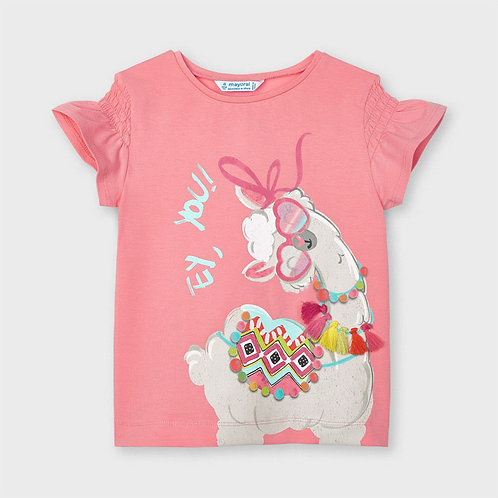 Mayoral ECOFRIENDS t-shirt for girl in Flamingo