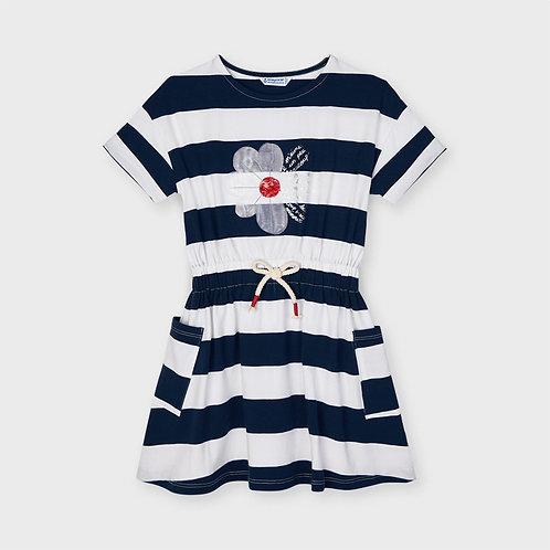 Mayoral daisy striped dress Ink