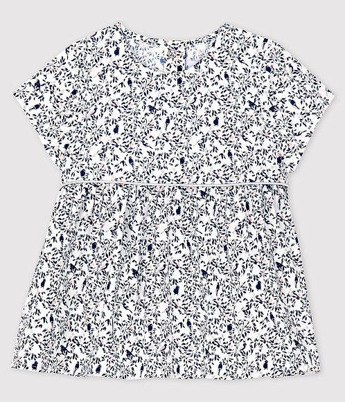 Petit Bateau-Baby Girls' Short-Sleeved Poplin Blouse