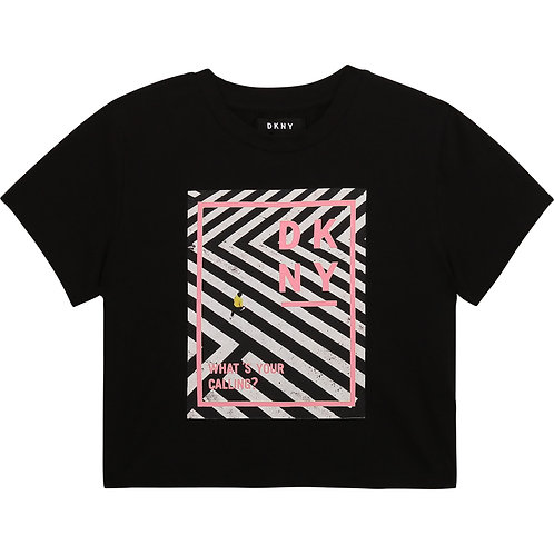 DKNY Cotton Jersey T-Shirt in Black