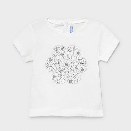 Mayoral ECOFRIENDS basic t-shirt for baby girl in White