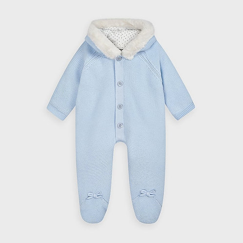 Mayoral Knit pramsuit for newborn baby