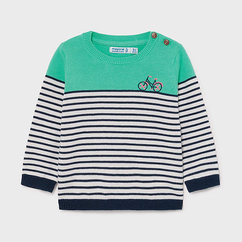 Mayoral Striped sweater Aqua
