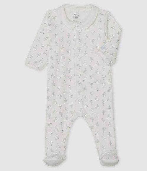Petit Bateau Baby Boys' Ribbed Sleepsuit