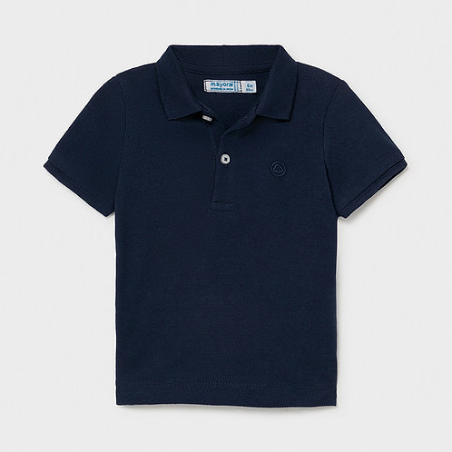 Mayoral Basic short sleeved polo shirt for Baby Boy in navy