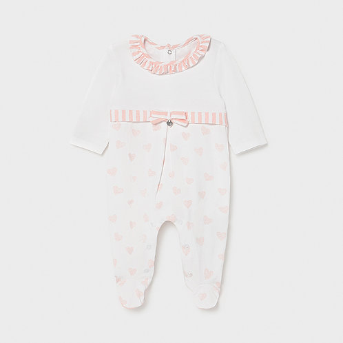 Mayoral heart long onesie for Baby Girls
