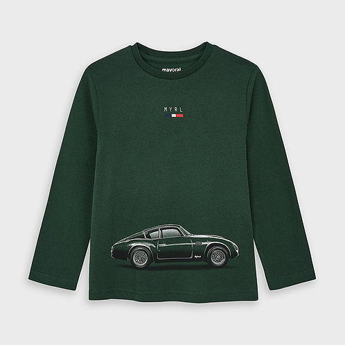 Mayoral Boys L/s shirt cars in SpanishFir