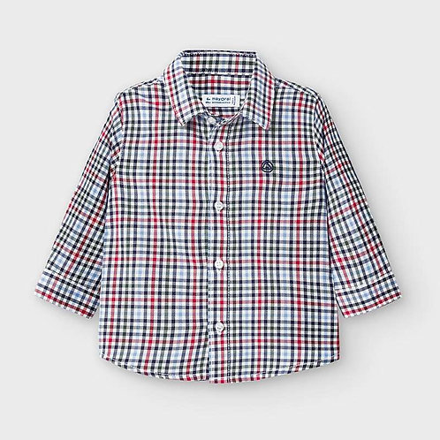 Mayoral Boys L/s check shirt in Red