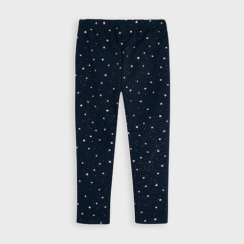 Mayoral Girls leggings with stars in Navy