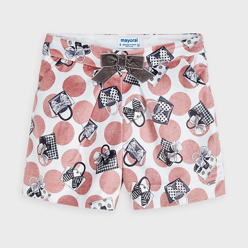 Mayoral Girls Velvet short in Blush