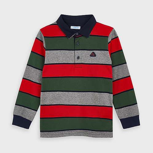 Mayoral Boys L/s stripes polo