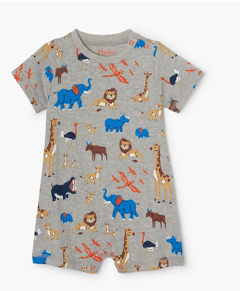 HatleyWild Safari Baby Romper