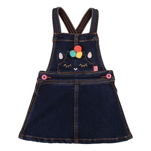 Billieblush baby denim pinafore dress