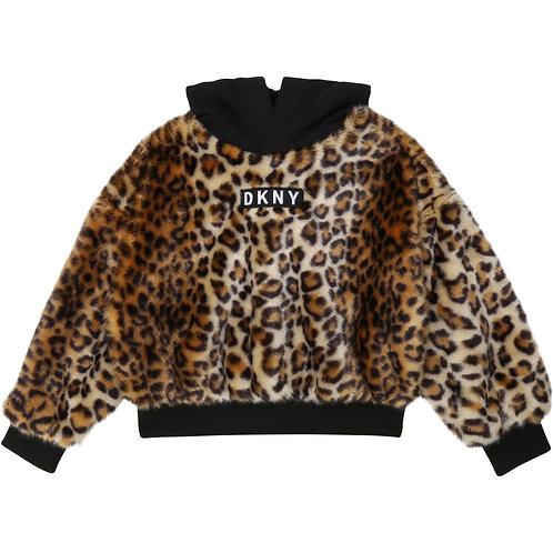 DKNY Faux fur sweatshirt