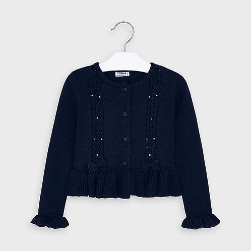 Mayoral Girls Tricot cardigan in Navy