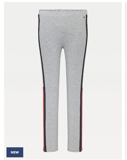 Tommy Hilfiger Stripe Detail Ribbed Leggings