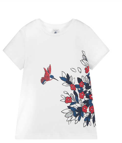 Petit Bateau-Girls' Short-Sleeved Cotton T-Shirt