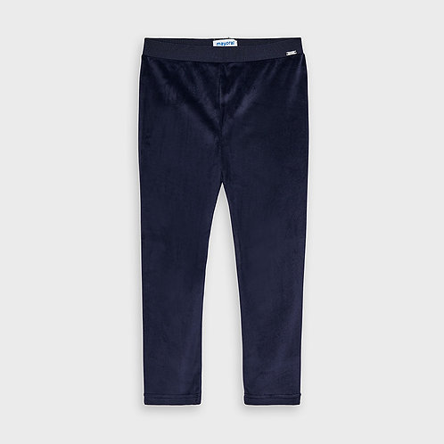 Mayoral Girls Basic velvet leggings in Navy