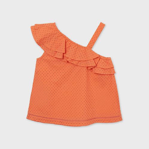 Mayoral perforated blouse Nectarine