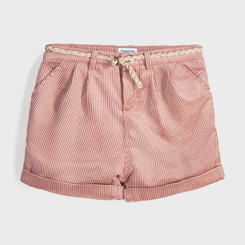 Mayoral Girls Corduroy shorts in Pink